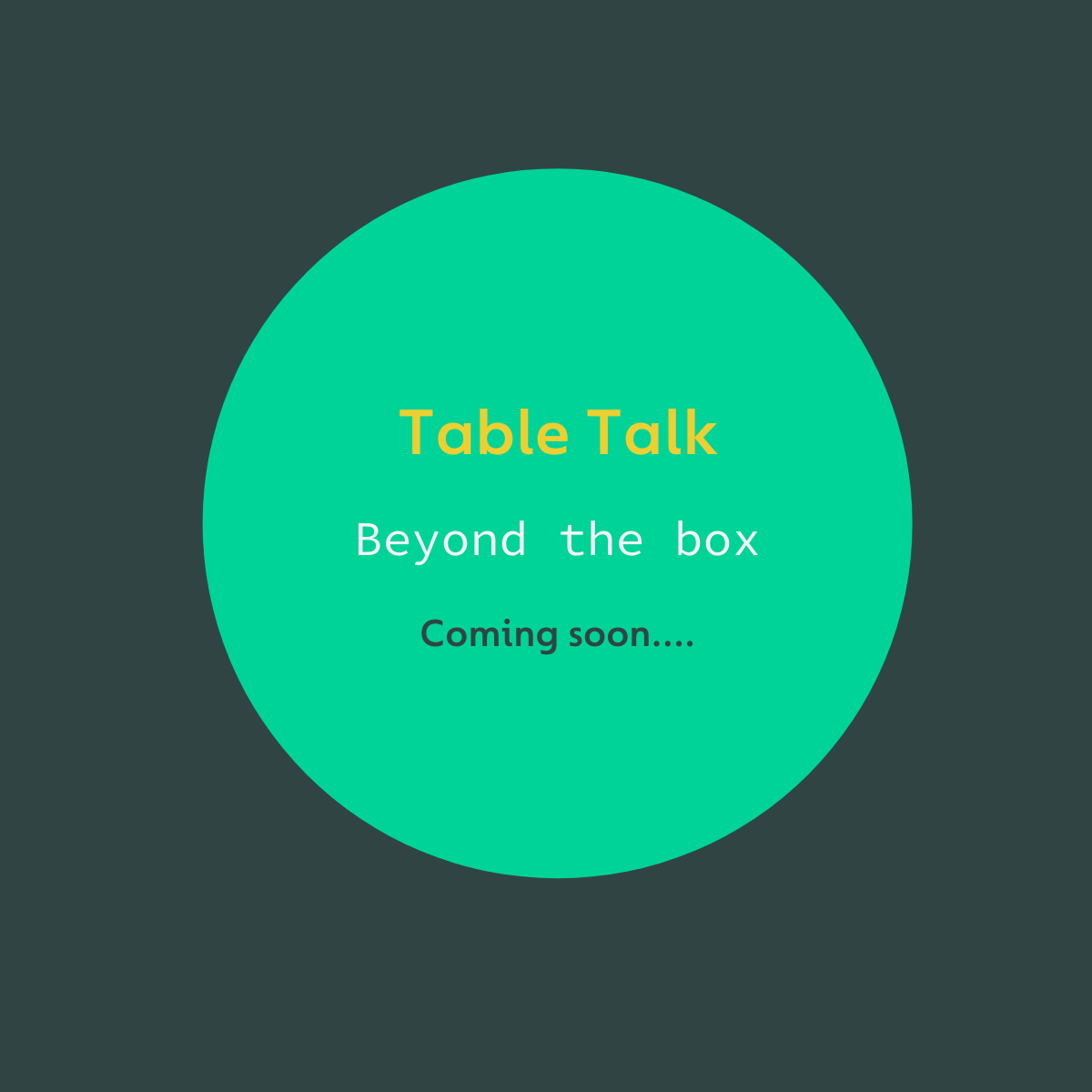 Thumbnail image or logo for the Table Talk event